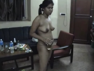 Gallery 338. Indian wife drinking beer dancin naked in lounge