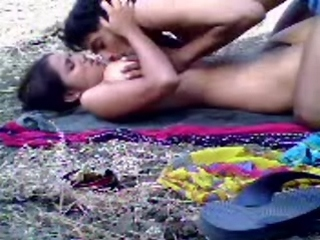 Gallery 409. Good Indian couple having sex in open