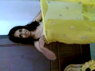 Gallery 435. Hot Indian wife in hot yellow saree
