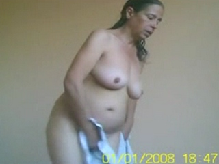 Gallery 735. Mature indian wife changing after shower unaware of