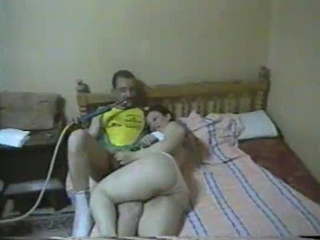 Gallery 800. Pakistani street girl with arab client in his bedroom