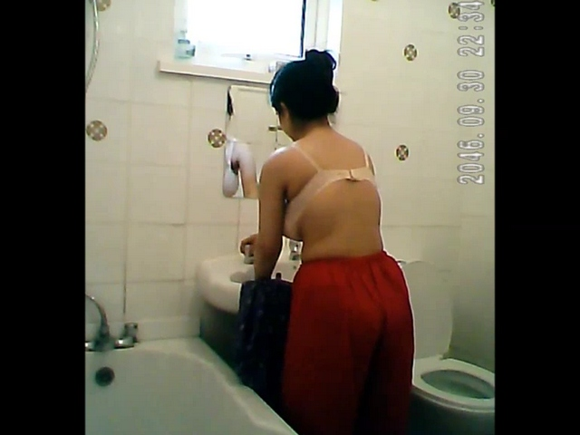 Gallery 1119. Indian babe naked in bathroom washing clothes and pussy